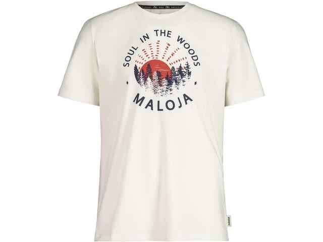 Maloja HeckenkirscheM. SS T-Shirt Men vintage white